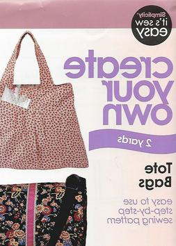 Simplicity Create Your Own Tote Bag Sewing Pattern #9032750.