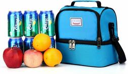 CryostSoft Cooler Insulated Carry Lunch Bag for Men, Women,
