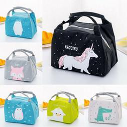 Cute Women Ladies Girls Kids Portable Insulated Lunch Bag Bo