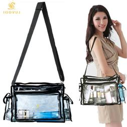 Cystal Clear Tote Bag Transparent Purse Backpack Shoulder Ha