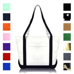 DALIX Daily Shoulder Tote Bag Premium Cotton