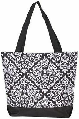 Ever Moda Damask Tote Bag