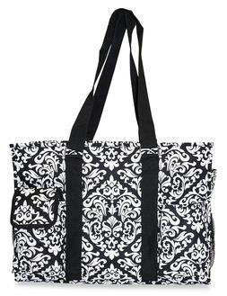 Damask Womens Utility Large Canvas Tote Bag for Travel Shopp