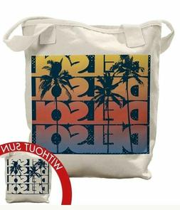 DEL SOL Tote Bag New Color Changing Large Ivory Cotton Canva