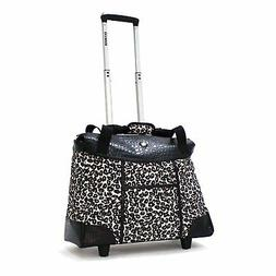 Olympia Deluxe Fashion Rolling Tote Bag, Wheeled Handbag