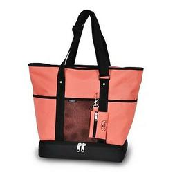 Everest Deluxe Large Shopping Tote Carry Bag - Coral