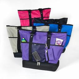 Deluxe Shopping Tote Beach Travel Bag Insulated Multi Compar