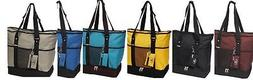 deluxe shopping tote beach travel bag insulated
