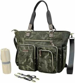 Diaper Tote Bag for Father Mother with Waterproof Changing M