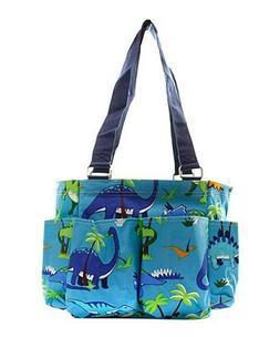 Dinosaur NGIL Small Zippered canvas purse Caddy Organizer To