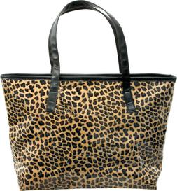 ForPro Diva LEOPARD Print TOTE BAG Purse Lined Zippered Wate