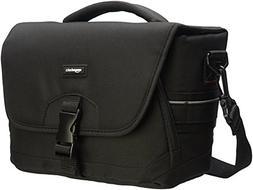 NEW AmazonBasics Medium DSLR Gadget Bag Gray Interior FREE S