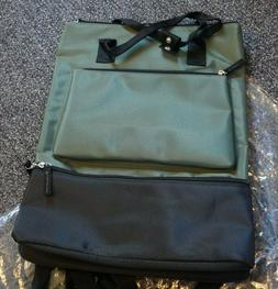 DSW Olive Green Backpack / tote bag with Shoe Compartment, B