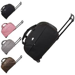"Duffle Bag 24"" Rolling Wheeled Trolley Bag Tote Carry On Lug"