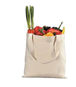 Durable Blank Canvas Tote Bags 5 Pack