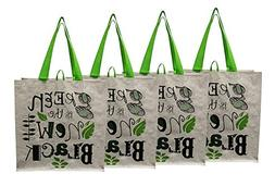 Earthwise Large Earth Day Reusable Grocery Shopping Tote Bag