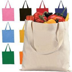 "Eco Friendly Durable Cotton Canvas Tote Bag 15"" x 16"" Shoppi"