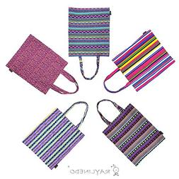 RayLineDo Pack of 5 Eco-Friendly Resuable Large Assorted Col