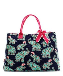 Elephant Baby Pink NGIL® Quilted Purse Overnight/Large Tote