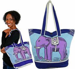 "ELEPHANT Design Tote Bag / 100% Organic Cotton / 18"" W x 14"""