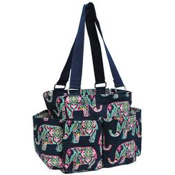 Elephant NGIL® Small Zippered Caddy Organizer Tote Bag