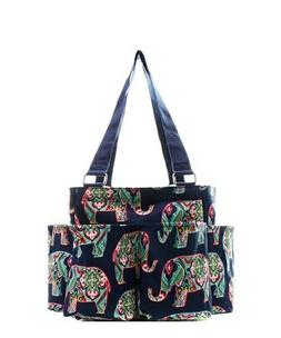 Elephant NGIL Small Zippered canvas purse Caddy Organizer To