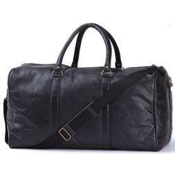 "EmbassyTM Black 21"" Hand-sewn Pebble Grain Genuine Leather D"
