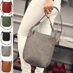EP_ HK- Women's Faux Leather Satchel Crossbody Shoulder Bags