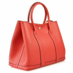 Esyuel Women's Genuine Leather Garden Tote Bag Top Handle Ha