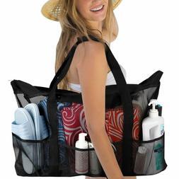 Fundia Extra Large Beach Bags and Totes XXL Mesh Beach Bag w