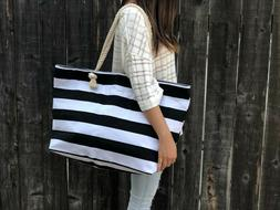 extra large canvas tote bag beach bag
