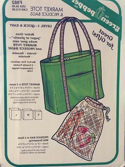 F882Market Tote Bag Produce Bag Green Pepper Pattern F882 Se