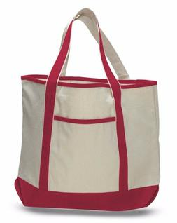 FancyCanvas Extra Large Deluxe Tote Bag Front Pocket, Reus
