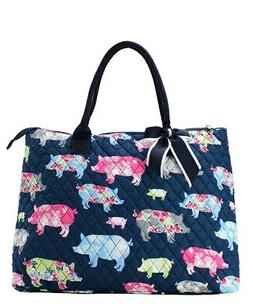 Farmhouse Pig NGIL® Quilted Purse Overnight/Large Tote Bag