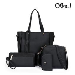 LUCDO Fashion 4 PcsSatchel Set Composite <font><b>Bag</b></f