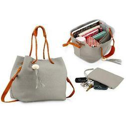 Fashion Tassel buckets Tote Handbag Women Messenger Hobos Sh