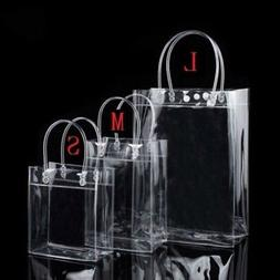 Fashion Women Clear Tote Bag Crystal PVC Handbag Tote Should