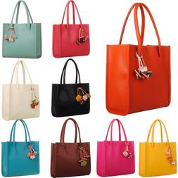 Fashion Women Girls Handbags Leather Shoulder Bag Candy Colo