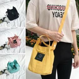 Fashion Women's Canvas Tote Crossbody bag Shopper Shoulder