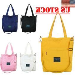 fashion womens canvas tote crossbody bag shopper