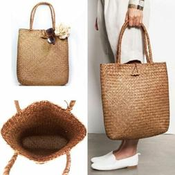 Fashion Womens Summer Straw Large Tote Bag Crossbody Beach S