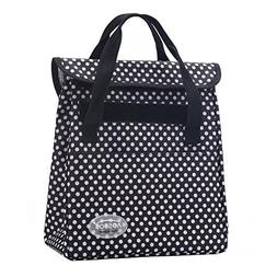 Aosbos Lunch Bag Insulated Tote Cooler Bags Foldable Handbag