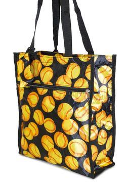 Fastpitch Softball Womens Small Tote Bag Handbag Purse for T