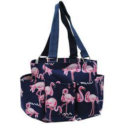 Flamingo NGIL® Small Zippered Caddy Organizer Tote Bag
