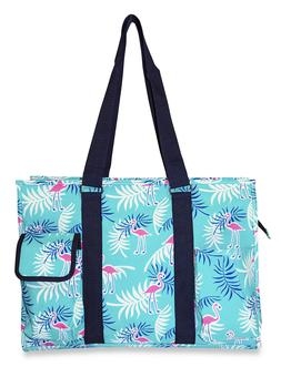 Flamingo Womens Utility Large Canvas Tote Bag for Travel Sho
