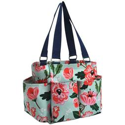 Floral Blossom Flower NGIL Small Zippered canvas purse Caddy