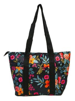 Floral Flower Reusable Lunch Tote Bag Work School Insulated