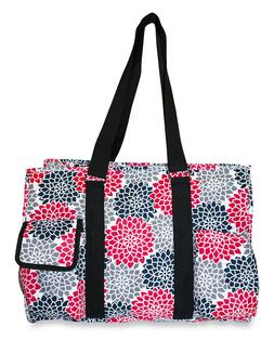 Floral Womens Utility Large Canvas Tote Bag for Travel Shopp