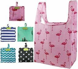 Foldable Reusable Grocery Bags Bulk 5 Cute Designs Folding S