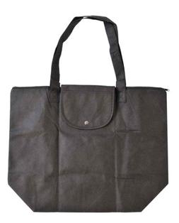 """DALIX 15"""" Foldable Zippered Thin Shopping Grocery Tote Bag i"""